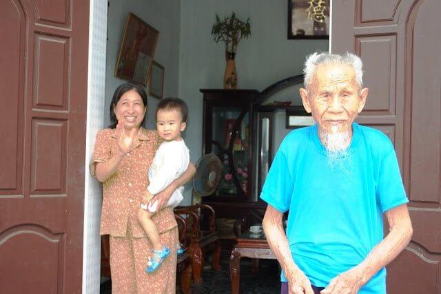 Une famille typiquement vietnamienne