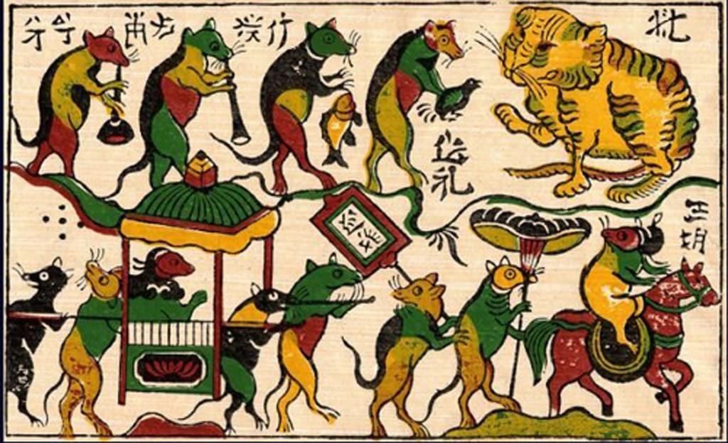 Mariage des souris - un tableau très connu du village Dong Ho
