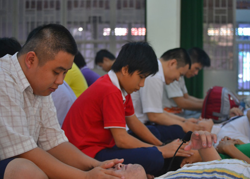 Un institut de massage par des aveugles