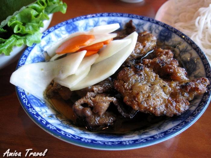 Bun cha Hanoi - Vermicelle au porc grillé