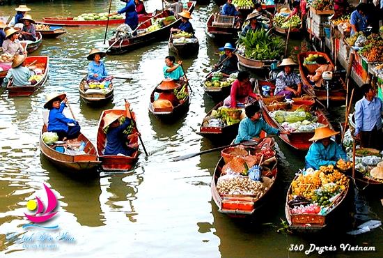 Marché flottant de Cai Be