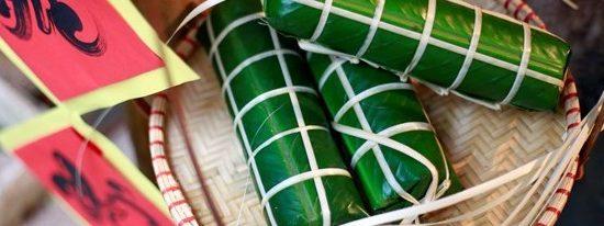 Le banh chung, gâteau traditionnel pendant le Tet du Vietnam
