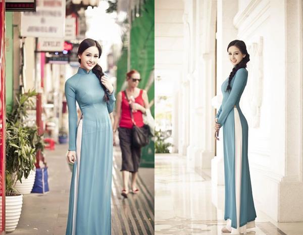 La Miss Vietnam avec le Ao Dai