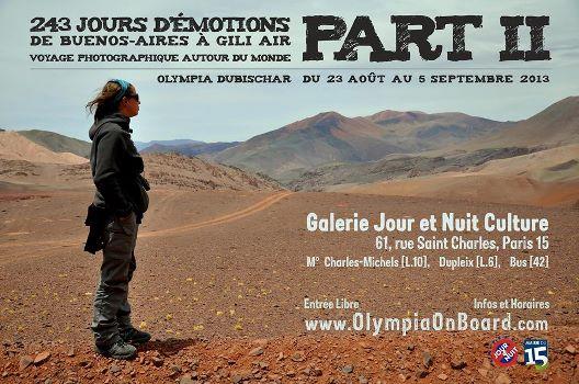 À partir du 23 août au 5 septembre, Olympia Dubischar vous invite à son exposition à Paris «243 jours d'émotions de Buenos-Aires à Gili Air Part II »