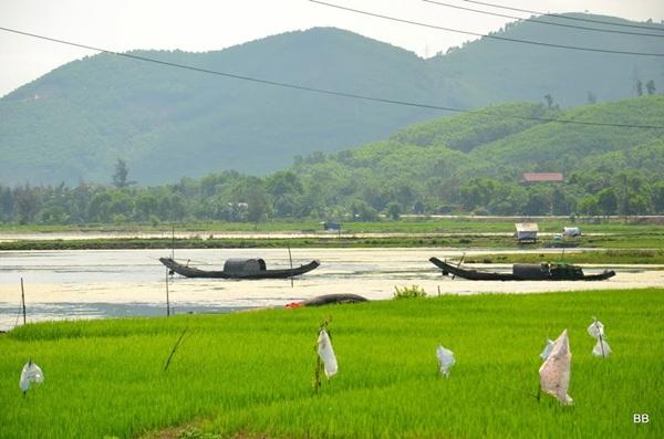 Sur la route entre Hué et Hoi an.