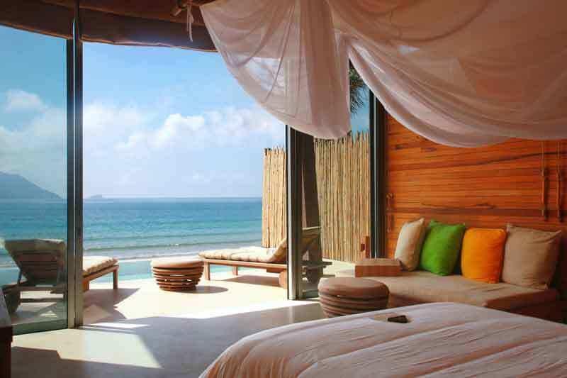 Chambre donnant vue à l'océan