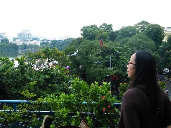 Minh Tâm lors de son voyage à Hanoi (Copyright : Marielle Laheurte)