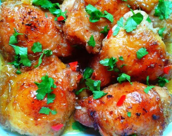 Poulet grillé à la citronnelle (Copyright : La Kitchenette de Miss Tâm)