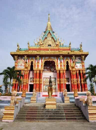 temple khmer delta du mékong