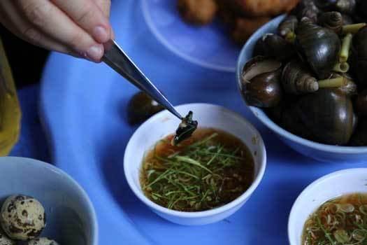Plats vietnamiens à base d'escargots