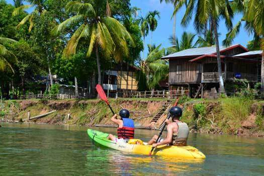 balade a kayak sur le mekong