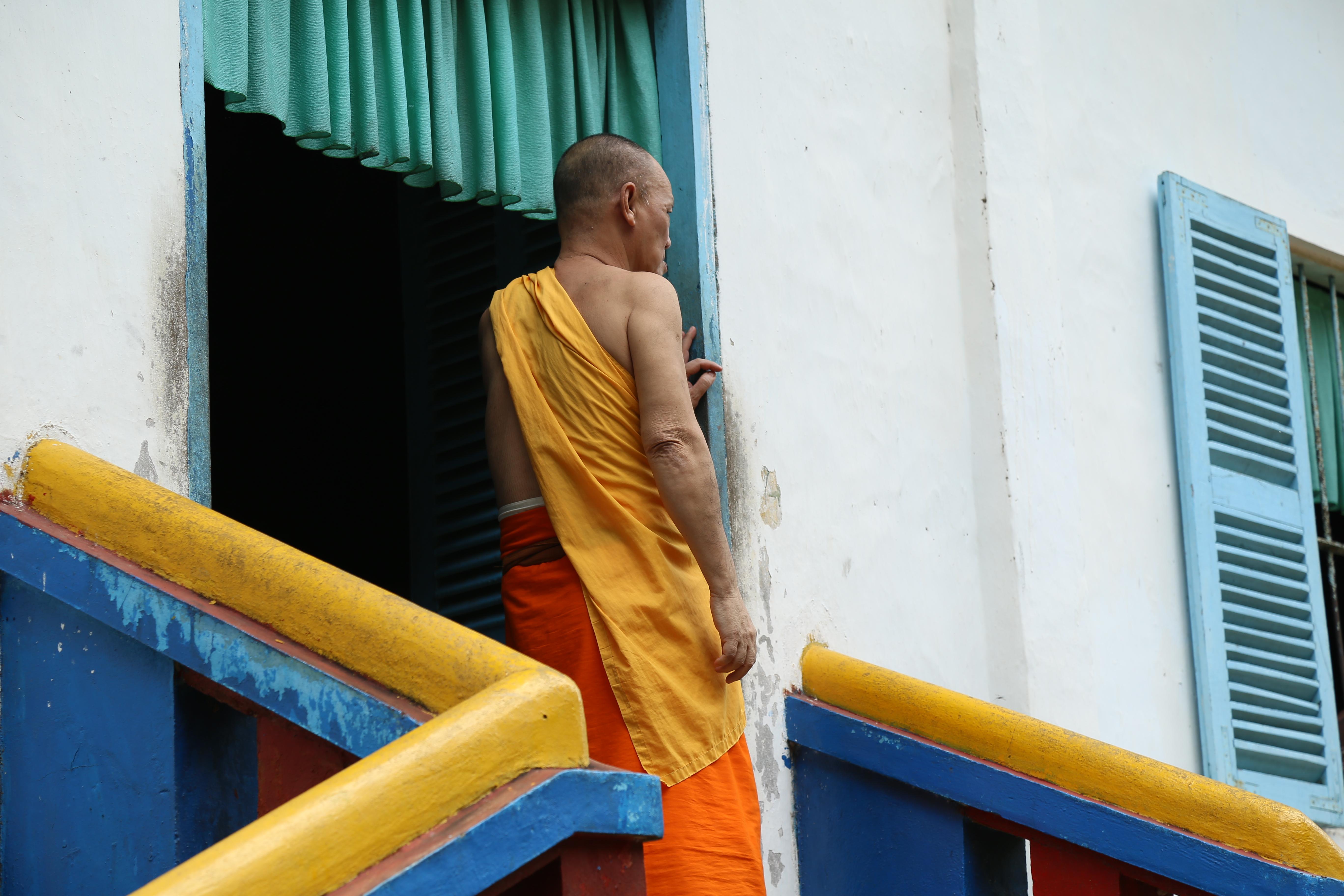 Un moine bouddhiste soc trang delta du mekong