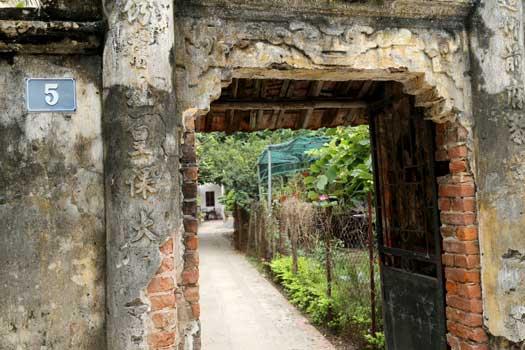 village dong ngac ancienne porte