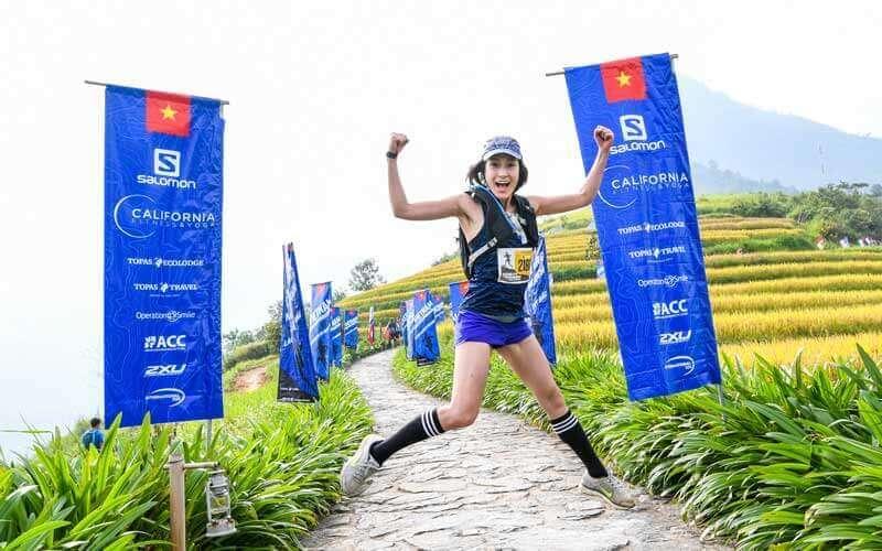 Arrivée du marathon de Sapa